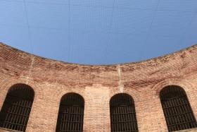 Façana de la presó, vista des del pati interior.